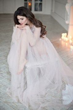 Inspiration: Long robe, lots of candles, modest boudoir Bridal Boudoir Photos, Wedding Boudoir, Bridal Photoshoot, Bridal Shoot, Bridal Portraits, Wedding Bride, Wedding Gowns, Dresses Short, Bridal Robes
