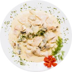 Romanian traditional cuisine can be surprisingly good. There are many people that can't wait to eat chicken breast with mushrooms, prepared in the traditional Romanian manner. Risotto, Catering, Stuffed Mushrooms, Gluten, Yummy Food, Chicken, Eat, Romania, Cooking