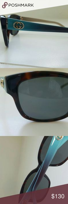 GUCCI SUNGLASSES AUTHENTIC  Lens 1.75 height  2 inches height  Good condition  A few scratches Gucci Accessories