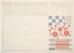 Das Weisse Fest postcard by Herbert Bayer Herbert Bayer, Philip Johnson, Vision Photography, Photography Exhibition, Moma Collection, Laszlo Moholy Nagy, Bauhaus Design, Signature Fonts, Mural Painting