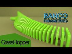Banco Paramétrico - Grasshopper for Rhino  Parte 1