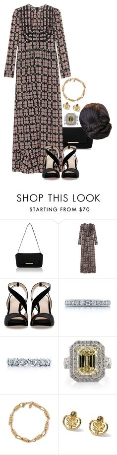"""""""Untitled #1776"""" by duchessq ❤ liked on Polyvore featuring RED Valentino, Zara and Tiffany & Co."""