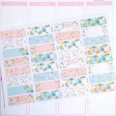 Washi Planner Sticker Set Blush Pink and Mint by itsplanningtime