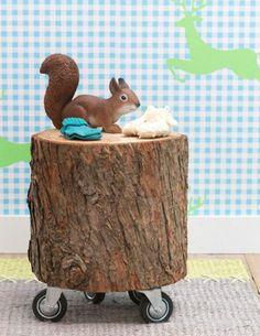 New massivholz Couchtische aus Baumstamm dekorativ