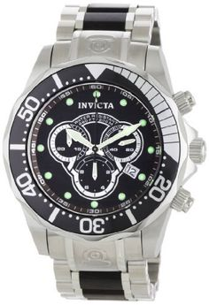 Invicta Men's 0858 II Collection Chronograph Black Wood and Stainless Steel Watch Invicta. $244.95. Water-resistant to 330 feet (100 M). Chronograph functions with 60 second, 30 minute and 1/10th of a second subdials; date function. Precise Swiss-quartz movement. Durable flame-fusion crystal; brushed and polished stainless steel case and bracelet with black wood center links. Black dial with silver-tone hands and hour markers; luminous; unidirectional bezel; screw-down crown ...