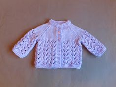 Sweet little baby jacketin two sizes ~  0 -3 months and 3 - 6 months baby        Bibi Baby Jacket      I previously used this stitch to...