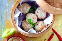 Oosterse visballetjes met limoenmayonaise