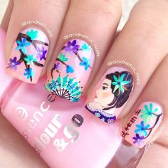 Beautiful Geisha Nail Art