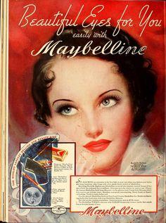 Maybelline Cosmetics Vintage Ad