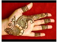 Very Simple Mehndi Designs, Mehndi Designs For Kids, Henna Tattoo Designs Simple, Back Hand Mehndi Designs, Mehndi Designs 2018, Mehndi Designs For Beginners, Beautiful Mehndi Design, Mehandi Designs, Simple Henna