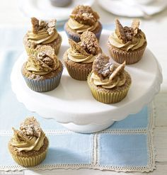 Coffee and Walnut Butterfly Cakes   recipe from the book 'Mary Berry Cooks the Perfect'   via the Daily Mail