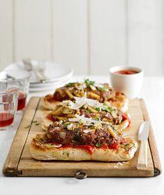 Slide Pasta and Meatballs Meat Loaf Bhg Recipes, Entree Recipes, Meat Recipes, Cooking Recipes, Venison Recipes, Meatball Recipes, Sausage Recipes, Ground Beef Burger Recipe, Ground Beef Recipes