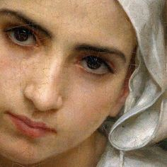 "the-hardest-of-hearts-survive: ""William-Adolphe Bouguereau, Breton Brother and Sister (Detail), 1871 "" William Adolphe Bouguereau, Renaissance Kunst, Munier, Classical Art, Portrait Art, Beautiful Paintings, Oeuvre D'art, Painting Inspiration, Painting & Drawing"