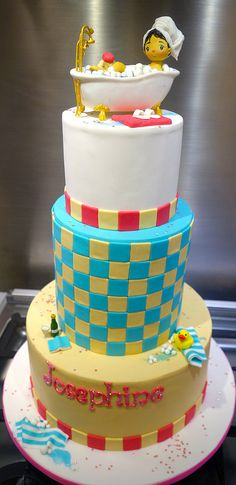 """spa cake     By: Little """"Miss"""" OC's Kitchen   Flickr - Photo Sharing!"""