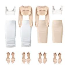 Nude x White All details on Polyvore @elinaskoogh