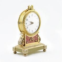 A Fabergé desk clock