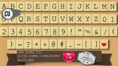 Debora's Creations: Alpha Scrabble Tiles http://scrapbird.com/designers-c-73/c-e-c-73_515/deboras-creations-c-73_515_357/alpha-scrabble-tiles-by-deboras-creations-cu-p-14793.html