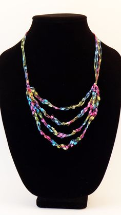 1000 Images About Ladder Ribbon Yarn Necklace On