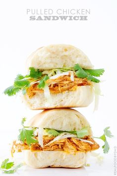 Pulled Chicken Sandwich from Real Food by Dad