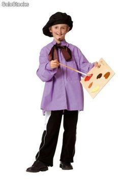 Traje disfraz de pintor niño