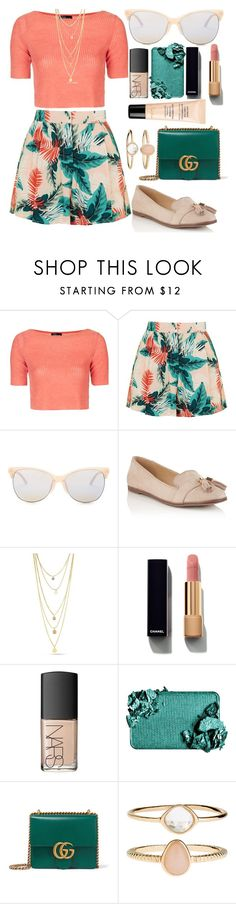"""""""Untitled #750"""" by jolka-krawiec ❤ liked on Polyvore featuring Topshop, Smith Optics, Miss Selfridge, Chanel, NARS Cosmetics, Gucci, Accessorize and Guerlain"""