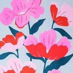 Poppies // Bella Gomez Illustration for A Sense of Place Exhibition Illustration Inspiration, Plant Illustration, Pattern Illustration, Floral Prints, Art Prints, Arte Floral, Floral Illustrations, New Wall, Pattern Art
