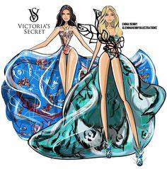 KenGi at the VS fashion show Created By Emma Kenny