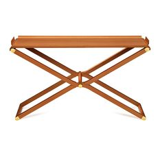 Hermes Pippa folding console.  pear wood with brass. $8550.  unbelievably simple and gorgeous.