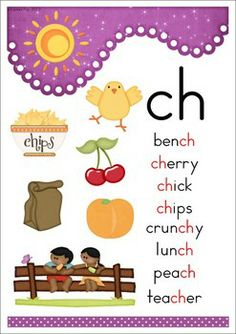 """ch"" Digraph 20 Games-Activities-Worksheets. Poster included in the unit."