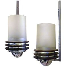 Art Deco Pair of Sconces | From a unique collection of antique and modern wall lights and sconces at http://www.1stdibs.com/furniture/lighting/sconces-wall-lights/