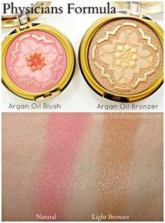 Physicians Formula Argan Wear Ultra-Nouishing Argan Oil Blush and Bronzer Swatches