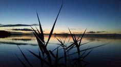 Mooi rustig veluwemeer vlak na zonsondergang