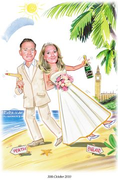 Boomerangs, champagne, London everything this couple are known for