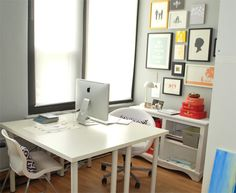 workspace with the ikea table working