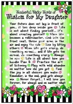 Wisdom for my Daughters