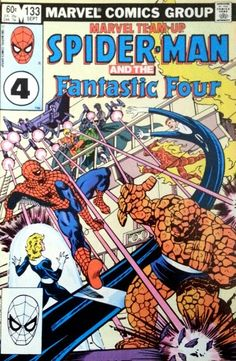 Spiderman meets the Fantastic Four: 1983