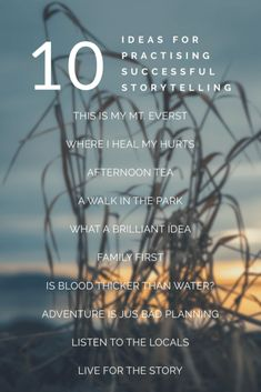 10 headlines to practice successful storytelling Family First, The Locals, Storytelling, It Hurts, Healing, Success, Content, Adventure, How To Plan