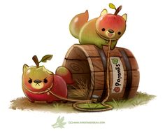 Daily Paint #1263. Pommeranie by Cryptid-Creations.deviantart.com on @DeviantArt