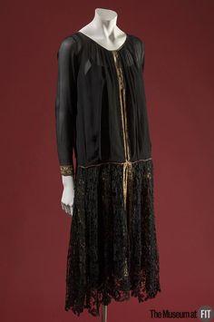 Evening Dress, Paul Poiret ((1879-1944) Paris, France): ca. 1926, silk chiffon, crochet lace and satin.