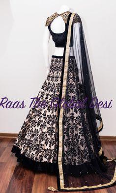 bridal lehenga USA Silk Chania with designer brocade blouse and contrast dupatta Crop Top Designs, Fancy Blouse Designs, Lehnga Dress, Lengha Choli, Sarees, Lehenga Gown, Lehenga Blouse, Anarkali, Indian Wedding Outfits