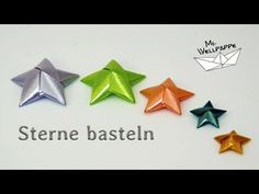 Sterne basteln zu Weihnachten - mit Geschenkbändern basteln - YouTube