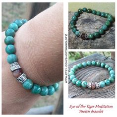 Eye of the Tiger Meditation Stretch Bracelet by Angelof2 on Etsy, $24.00