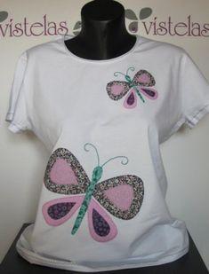 Camiseta Mariposas manga corta | Ecomercadillo facilisimo.com, toda la artesanía y ecología a la venta