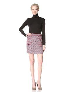 59% OFF Anna Sui Women\'s Optic Jacquard Skirt (Magenta Multi)