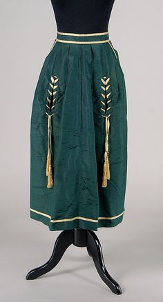 Apron | American | 1865 | silk | Brooklyn Museum Costume Collection at The Metropolitan Museum of Art | Accession Number: 2009.300.4247