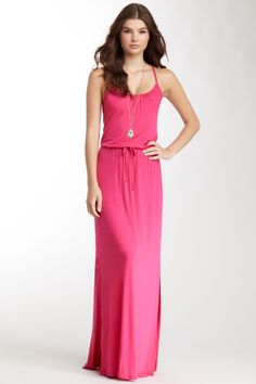 Drawstring Maxi Dress. Throw a cardigan over it and it would be great for work, too!