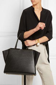 c635db8a02f5 Fendi 3Jours medium textured-leather tote Work Uniforms