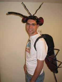 Simple Mosquito costume with hat and backpack