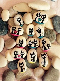 Diy ideas of painted rocks with inspirational picture and words 390