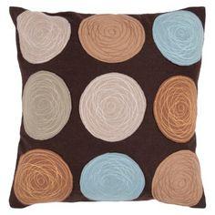Target - Circle Felt Applique Toss Pillow - 18x18